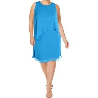 Lauren Ralph Lauren Womens Sundress Layered Cascade Ruffle