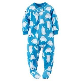 Carter's Little Boys' One Piece Fleece Footed Pajama