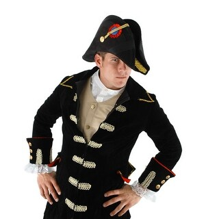 Admiral Bicorn Military General Adult Black Hat Costume Accessory One Size
