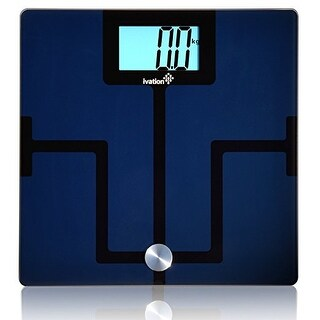 Ivation Bluetooth Digital Smart Scale with FREE App for iPhone & Android Smartphones