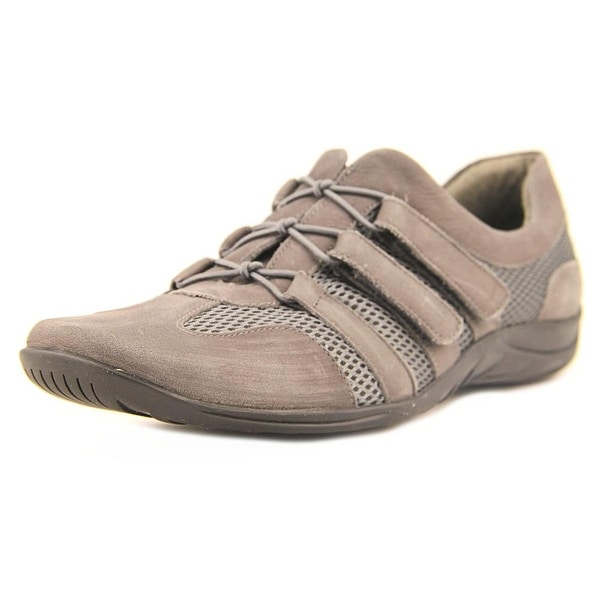 Walking Cradles Audio Women Round Toe Leather Gray Walking Shoe