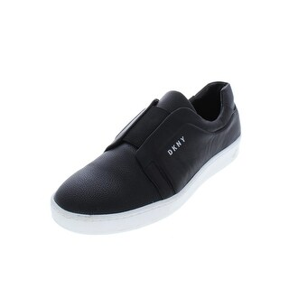 DKNY Womens Bobbi Fashion Sneakers Pebbled Leather