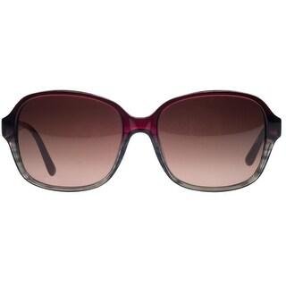 Lacoste L735/S 615 Red/ Brown Gradient Square Sunglasses
