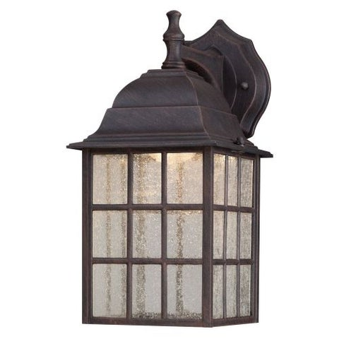 """Westinghouse 6400000 12.25"""" Tall 3 Light LED Outdoor Lantern Wall Sconce - Brown"""