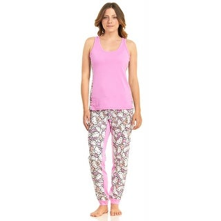 Hello Kitty Women's Meow Mix Tank Top And Pajama Pant Set