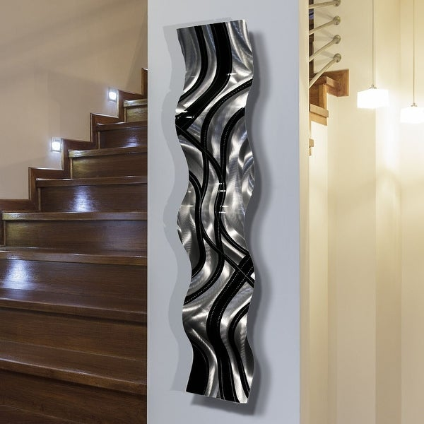 Statements2000 Modern Abstract Metal Wall Art Accent Sculpture Decor by Jon Allen - Large Pattern Wave. Opens flyout.
