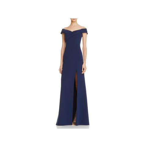 afd09828fdc Aidan Mattox Womens Evening Dress Off-The-Shoulder Crossover