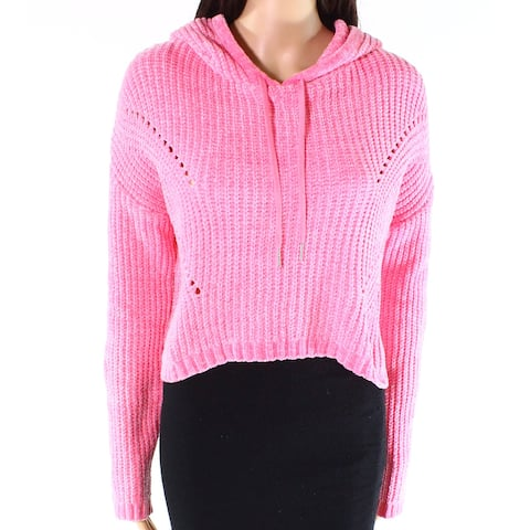 Living Doll Pink Womens Size Large L Chenille Pullover Sweater