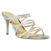 Judith Leiber Womens Leiber Silver Heels Size 7