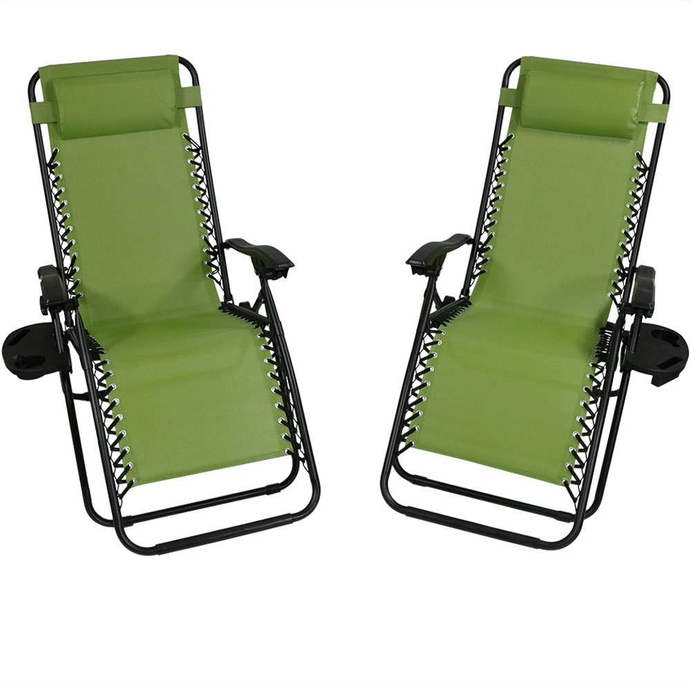 Sunnydaze Zero Gravity Lounge Chair with Pillow and Cup Holder, Multiple Colors Available - Thumbnail 90