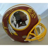 Washington Redskins Autographed Super Bowl MVPs Full Size Helmet wRiggins Rypien  Williams JSA