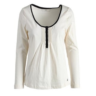 Nautica Womens Knit Pintuck Sleep Shirt - M