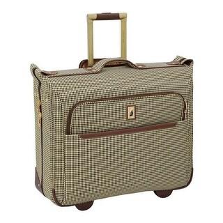 "London Fog Cambridge II 44"" Wheeled Garment Bag Olive Houndstooth - us one size (size none)"