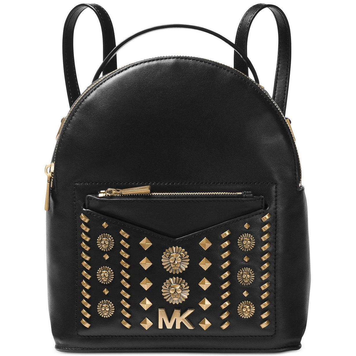 MICHAEL Michael Kors Jessa Small Studded Leather Convertible Backpack Black - One Size