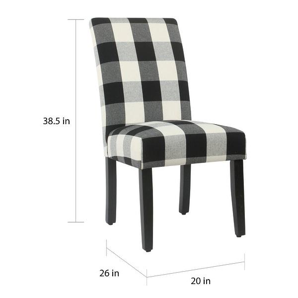 HomePop Black Plaid Parsons Dining Chair (Set of 2)