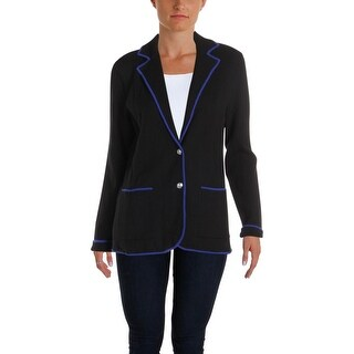 Lauren Ralph Lauren Womens Alvarta Blazer Contrast Trim Wear To Work