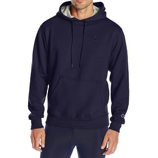 Champion NEW Blue Mens 2XL Athletic Powerblend Fleece Pullover Hoodie