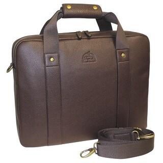 DOPP Men's SoHo Slim Laptop Briefcase - Brown