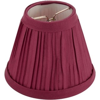 "Pleated Cloth Covered Lampshade 2.5""X4""X5""-Burgundy - Red"