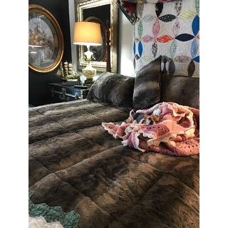 Madison Park Marselle Faux Fur Comforter Set