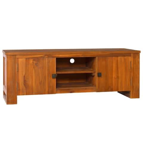 """vidaXL TV Cabinet 43.3""""x11.8""""x15.7"""" Solid Teak Wood"""
