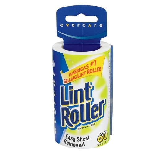 Evercare 1062 Lint Roller Refill, 60 sheets per roll