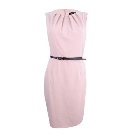 Nine West Women's Pleated Sheath Dress - Shell