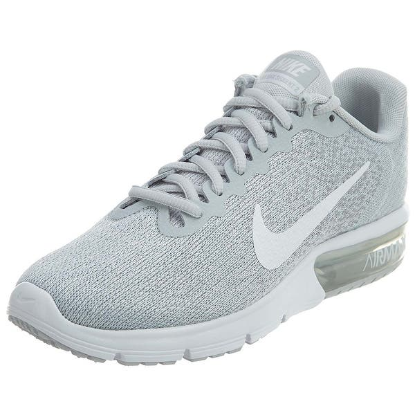 a1adc8dd3130 Nike Air Max Sequent 2 Pure Platinum White Wolf Grey Women s Running Shoes  ...