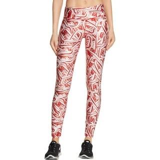 Zara Terez Womens Candy Cane Athletic Leggings Moisture Wicking Printed
