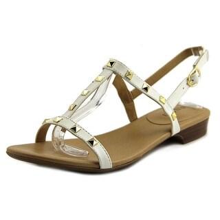 Vaneli Baina Open Toe Leather Sandals