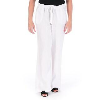 Vince Camuto Womens Linen Wide Leg Casual Pants - S