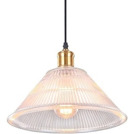 Vintage Glass Pendant Lamp Light
