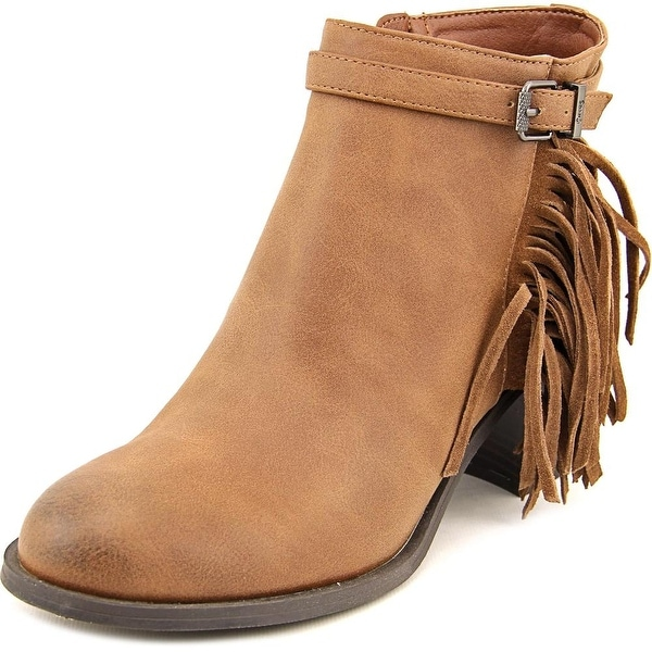 Circus by Sam Edelman Jolie Women Round Toe Synthetic Tan Ankle Boot