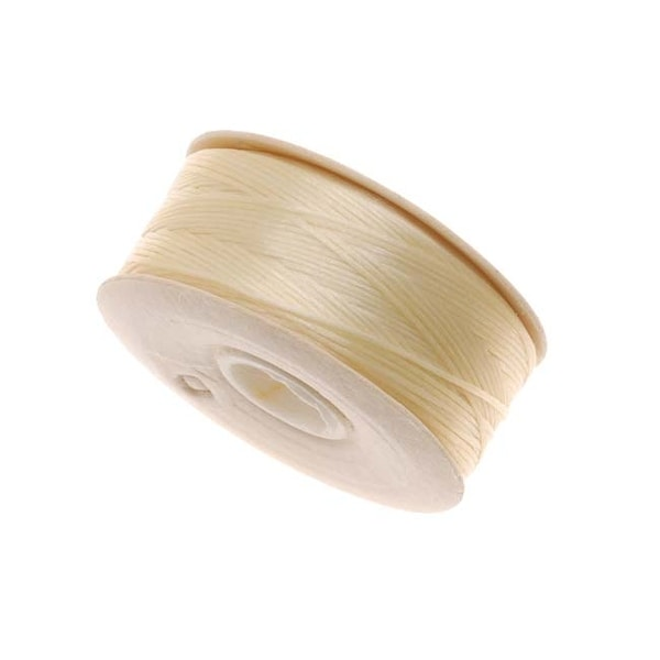 NYMO Nylon Beading Thread Size D for Delica Beads Ivory 64YD (58 Meters)