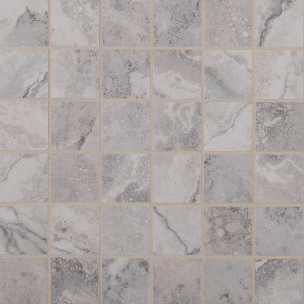 "MSI N2X2-C Napa - 2"" Square Mosaic Tile - Matte Ceramic Visual - Sold by Carton (11 SF/Carton) - Gray"