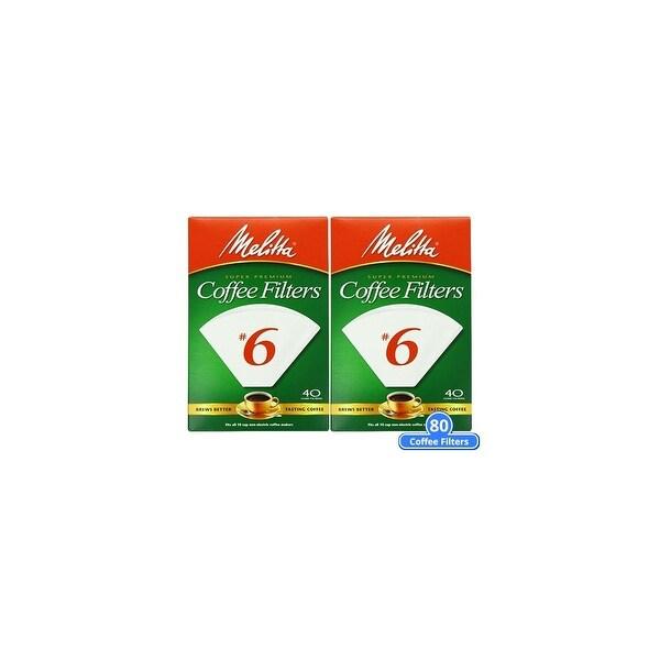Melitta No. 6 Paper White Cone Coffee Filters 240 Count (2-Pack) White Cone Coffee Filters 40 Counts