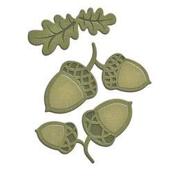 Acorn And Oak Leaf - Spellbinders Shapeabilities Die D-Lites