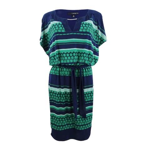 Sangria Women's Jersey Blouson Dress - Green/Multi