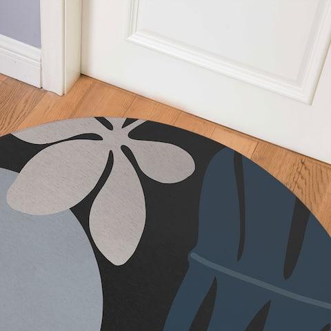 SHERE BLACK Indoor Floor Mat By Kavka Designs