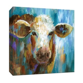 "PTM Images 9-147401  PTM Canvas Collection 12"" x 12"" - ""Lulu Belle"" Giclee Farm Animals Art Print on Canvas"
