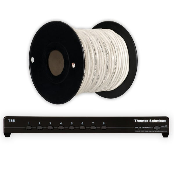 Theater Solutions TS8 Eight Zone Speaker Selector Box and 100' of C100-14-2 Wire