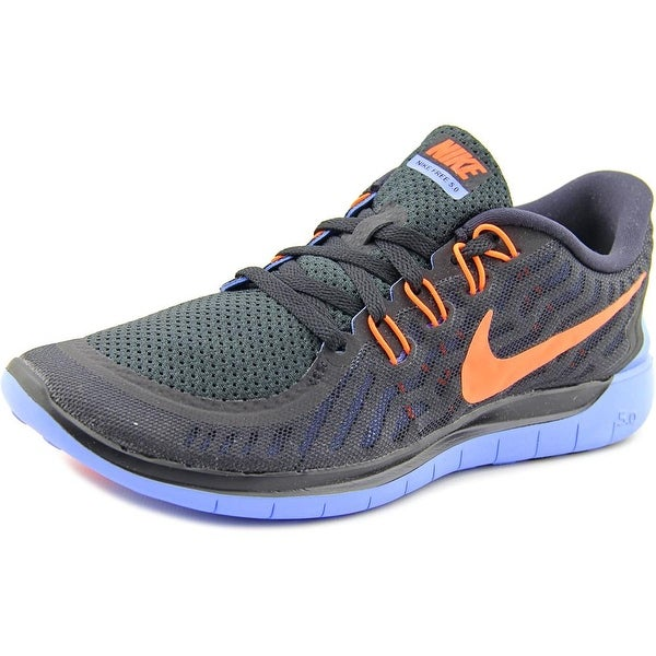Nike Free 5.0 Women Round Toe Synthetic Black Running Shoe