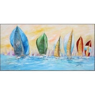 Carolines Treasures JMK1341HRM2858 Sailboats On The Water Indoor & Outdoor Runner Mat 28 x 58 in.
