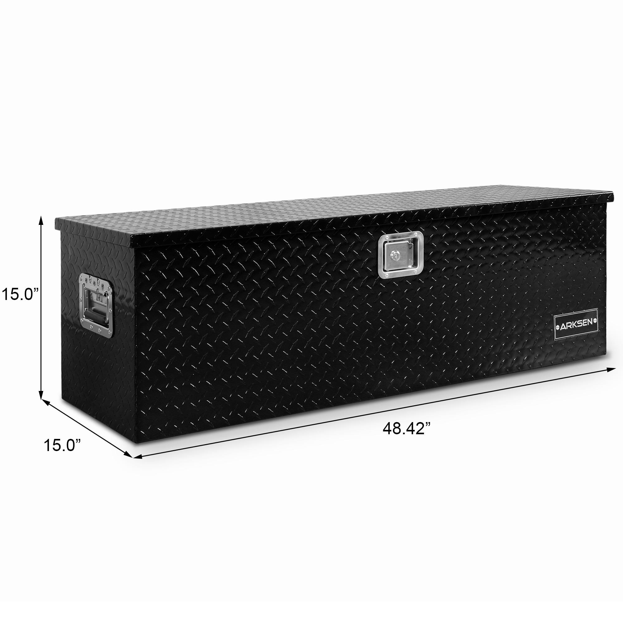 Arksen 49 Aluminum Tool Box Trailer Storage Organizer Black Overstock 29797472