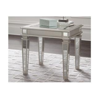 Tessani Rectangular End Table Silver Tessani Rectangular End Table