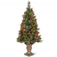 4 ft. Crestwood(R) Spruce Entrance Tree with Clear Lights - green