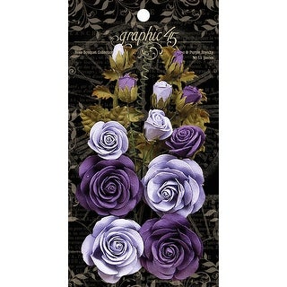Graphic 45 Staples Rose Bouquet Collection 15/Pkg-French Lilac & Purple Royalty