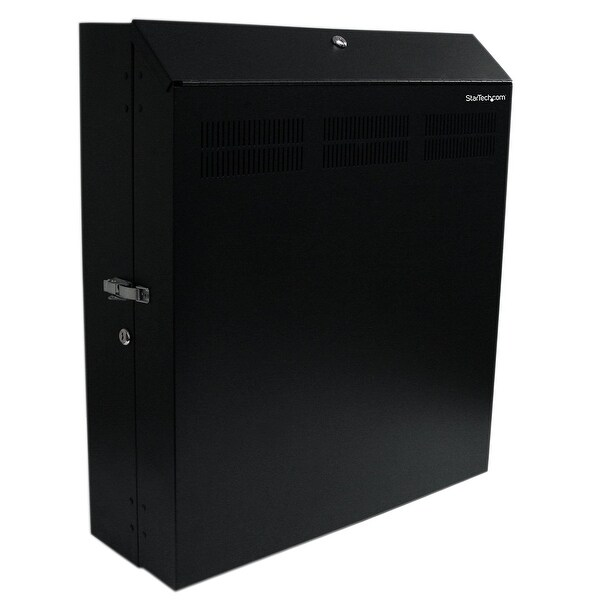 Startech 4U 19In Secure Horizontal Wall Mountable Server Rack W/ 2 Fans