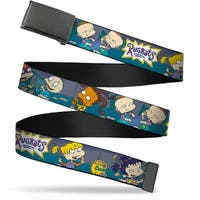 Blank Black  Buckle Rugrats Cookie Scene Webbing Web Belt