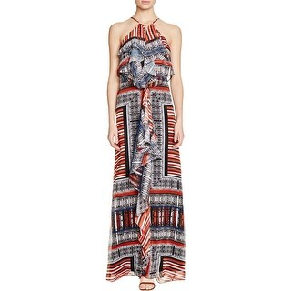 Twelfth Street by Cynthia Vincent Womens Maxi Dress Printed Popover